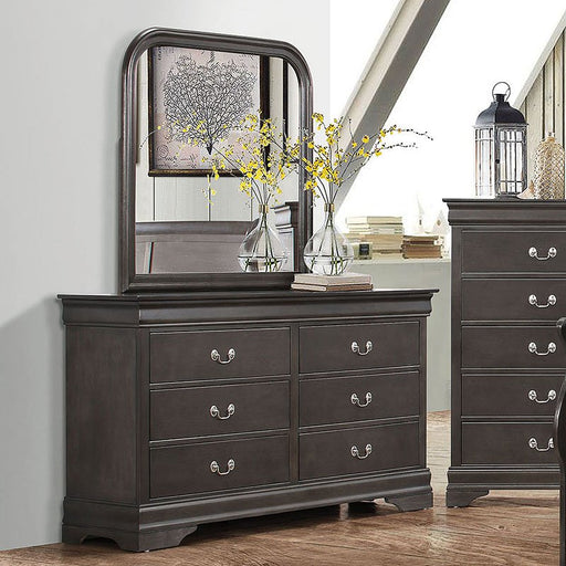Grey Louise Philippe Dresser & Mirror