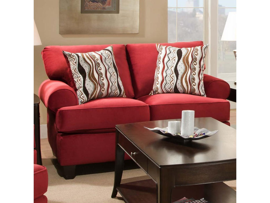 Jackpot Red Loveseat by Corinthian