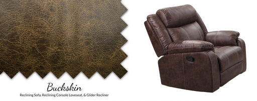 Buckskin Pad-Over-Chaise Glider Recliner