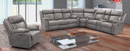 Jarama Power Reclining Gray Sectional