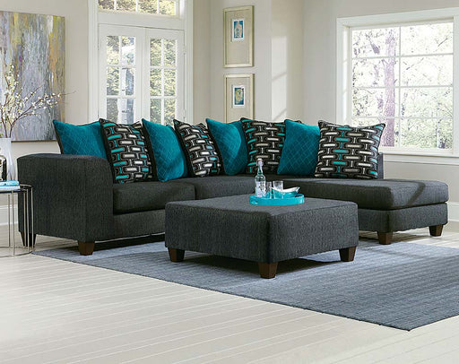 Multi-Colored Blue Sectional by Nationwide Furntiure