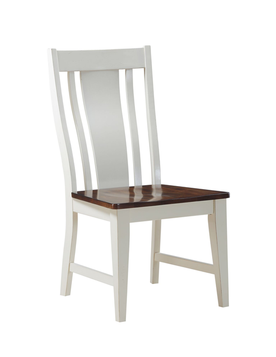 Brisco Birch White and Brown Chair