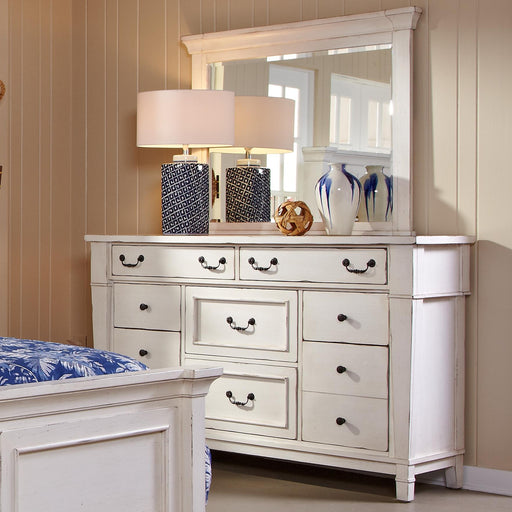 Stoney Creek White Dresser & Mirror