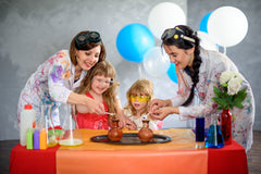 A science birthday party can be messy but are always enjoyed by the birthday party guests.