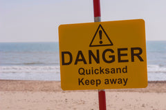 Your birthday party guests will love crossing the quicksand.