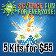 Load image into Gallery viewer, #kit475 -ALL 5 SCIENCE FUN Kits For ONLY $55 (Free Science Goggles)