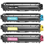 1 Set Brother TN-225BK TN-221C TN-221M TN-221Y Toner