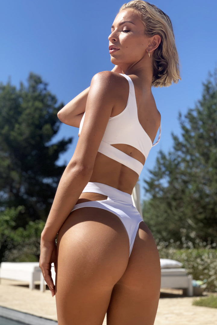 Malibu Cut Out Bikini in White