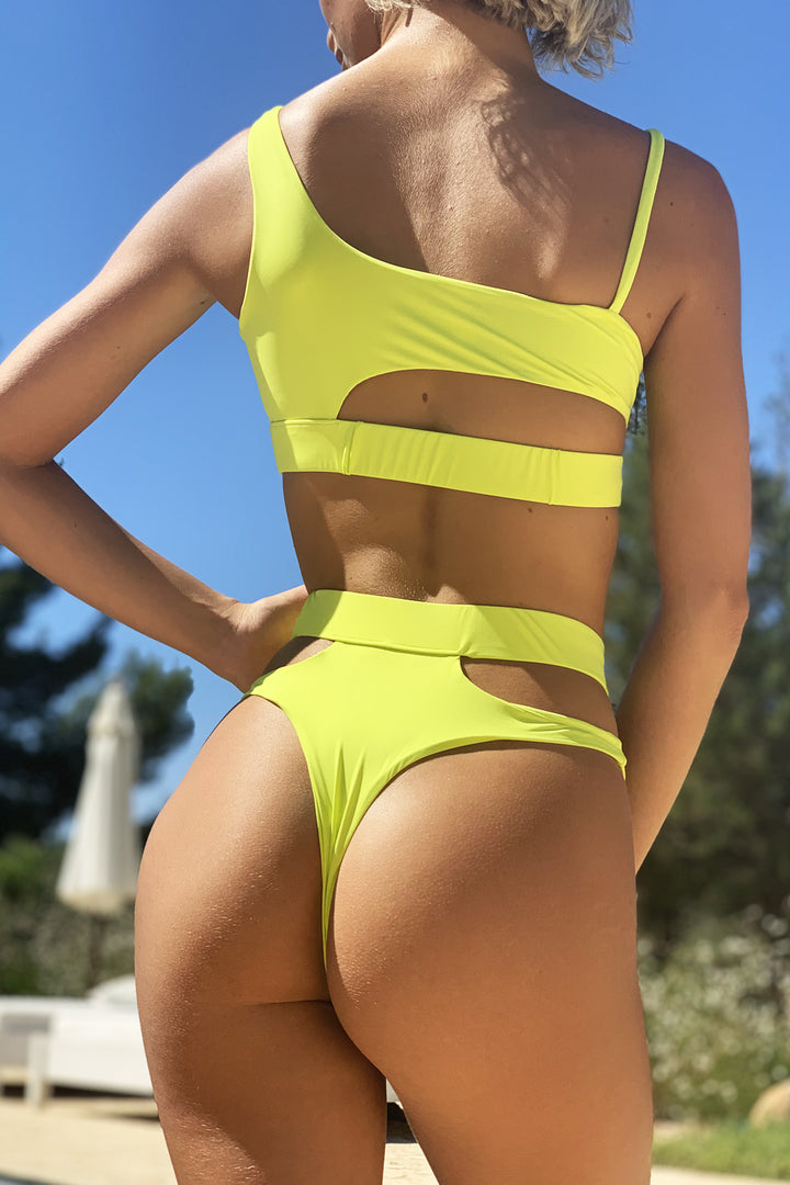 Malibu Cut Out Bikini in Lime