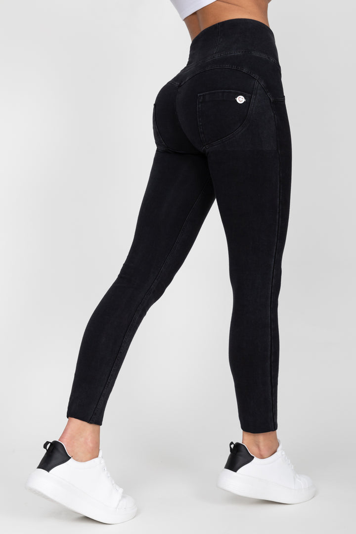 Black High Waist Denim Black Stitch