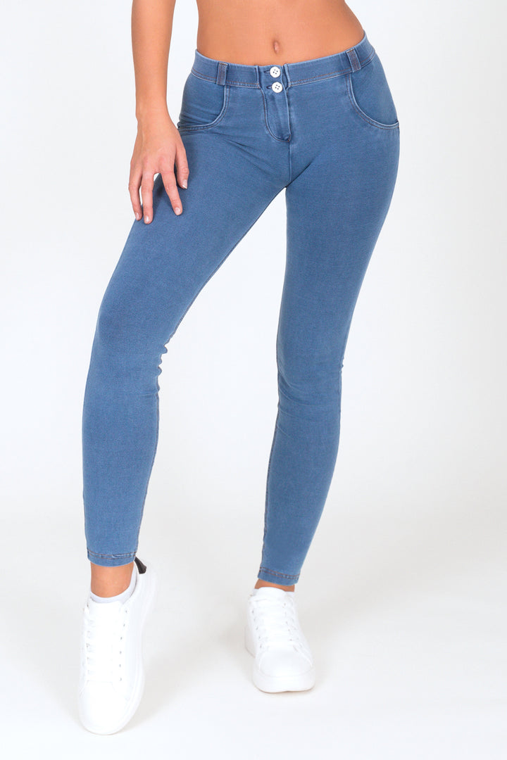 Light Blue Low Waist Denim