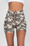 Light Camo High Waist Short