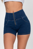 Dark Denim High Waist Short
