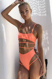 Malibu Cut Out Swimsuit in Orange