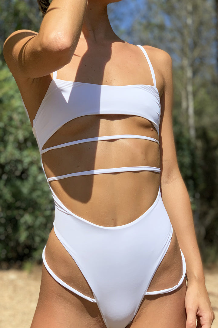 Malibu Cut Out Swimsuit in White