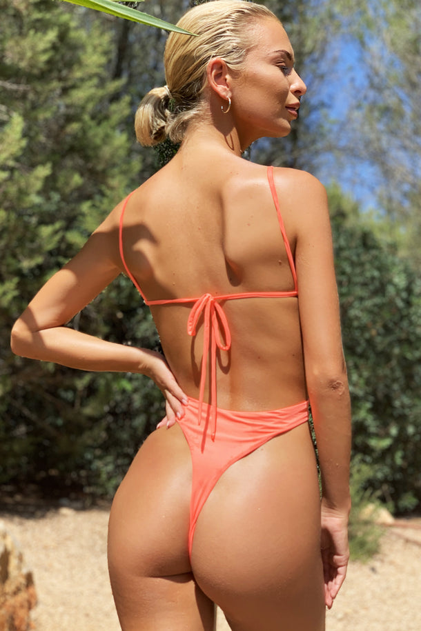 Malibu Plunge Swimsuit in Orange