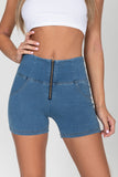 Light Blue Denim High Waist Short