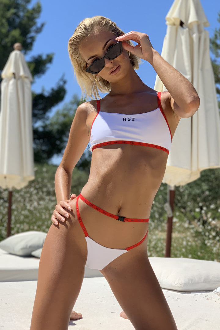 Ibiza Sport Bikini in White/Red