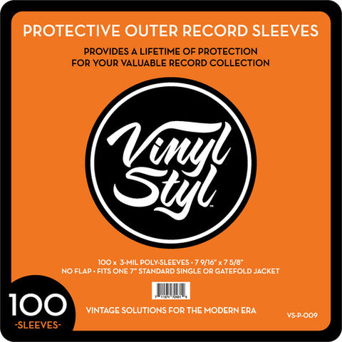 "Vinyl Styl™ 7 9/16"" X 7 5/8"" 3 Mil Protective Outer Record Sleeve 100CT"