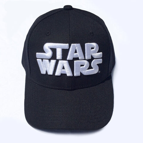 Star Wars 3D Logo Black Embroidered Snapback Baseball Cap