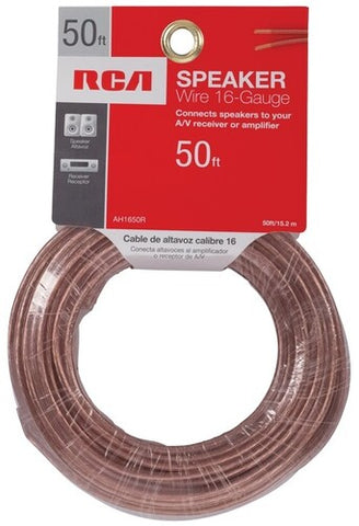 RCA AH1650R Speaker Wire 16 Guage 50 Ft