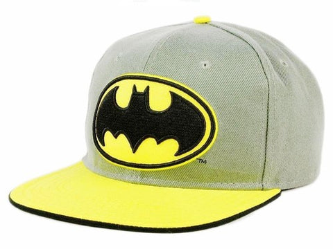 Batman Logo Heather Gray Snapback Baseball Cap