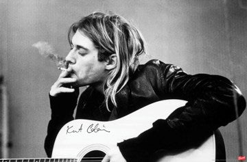 Poster-Kurt Cobain Smoking