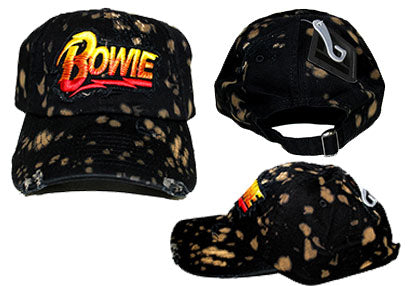 David Bowie-Yellow and Red Logo Hat - Cameron Records