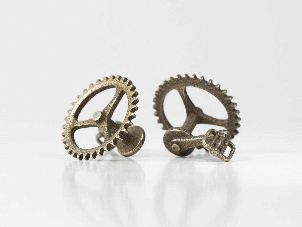 Bicycle Chainring Cufflinks