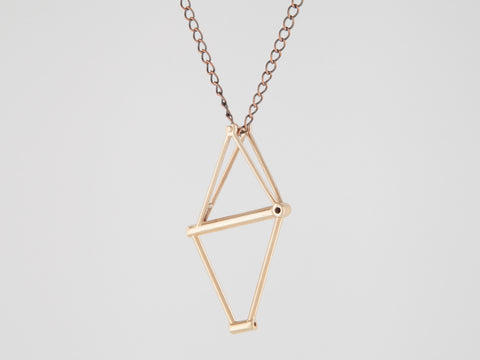 Bicycle Frame Necklace