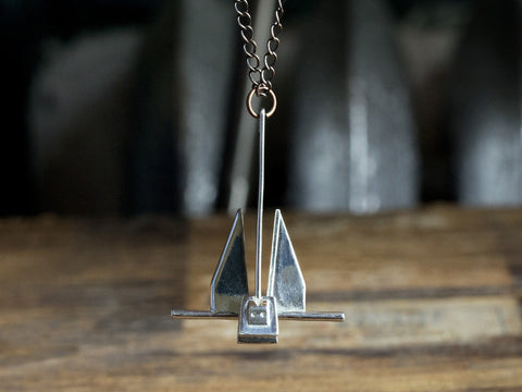 Anchor Necklace (danforth)