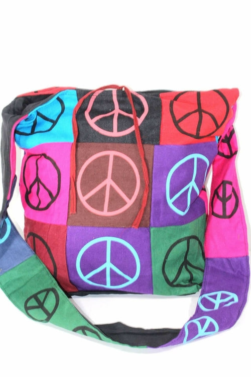 Pop Art Peace Patchwork Jhola Sling Bag