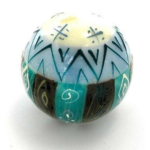 Hand-Painted Ball Candle - Maji Design Handmade and Fair Trade