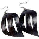 African Blackwood Leaf Earrings Handmade and Fair Trade