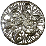 Sea life and Seaweed in Ring Wall Art - Croix des Bouquets