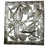Two Birds Metal Wall Art - 11 by 12 Inches Handmade and Fair Trade