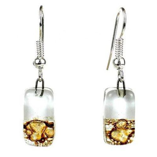 Root Beer Float Design Small Glass Earrings Handmade and Fair Trade