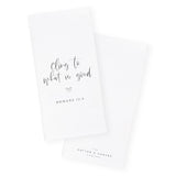 Cling to What is Good, Romans 12:9 Cotton Canvas Scripture, Bible