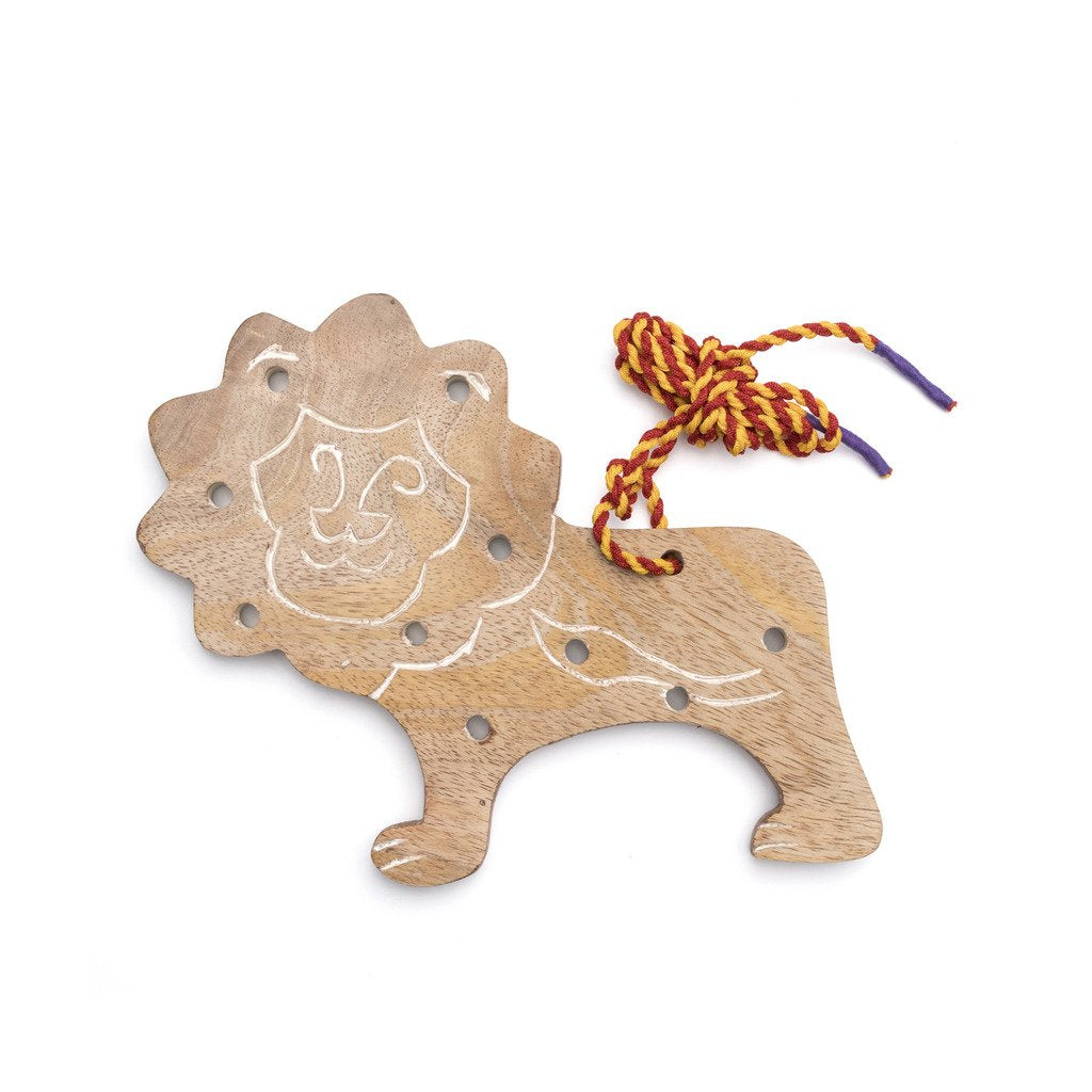 Wood Lion Lacing Toy - Matr Boomie
