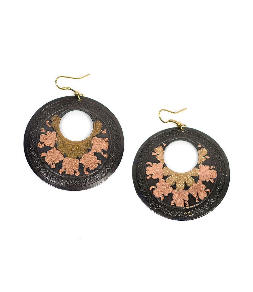 Tri-Flower Earrings - Matr Boomie (Jewelry)