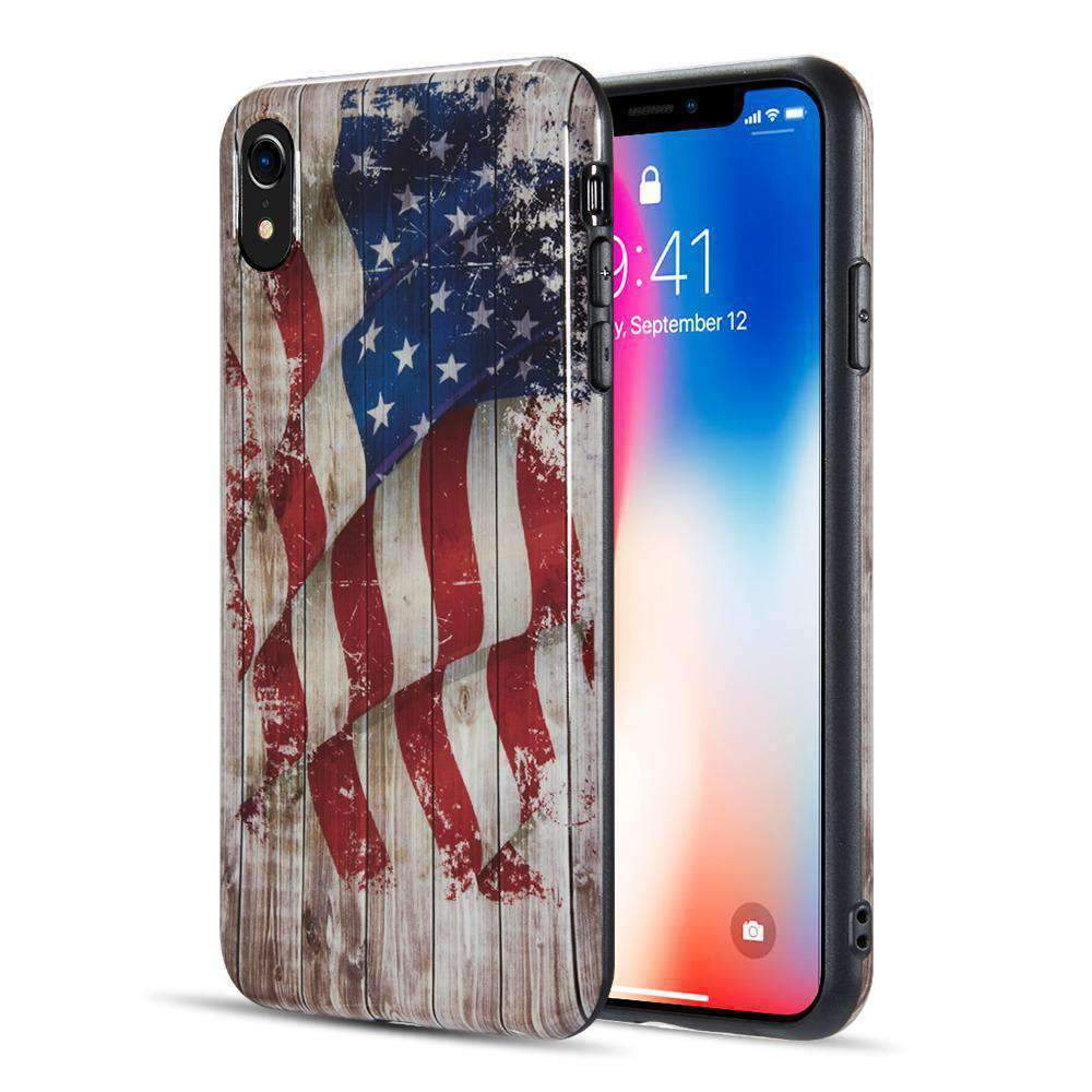 AMZER® Patriotic Vintage Flag Series Case - Faded Glory for iPhone Xr