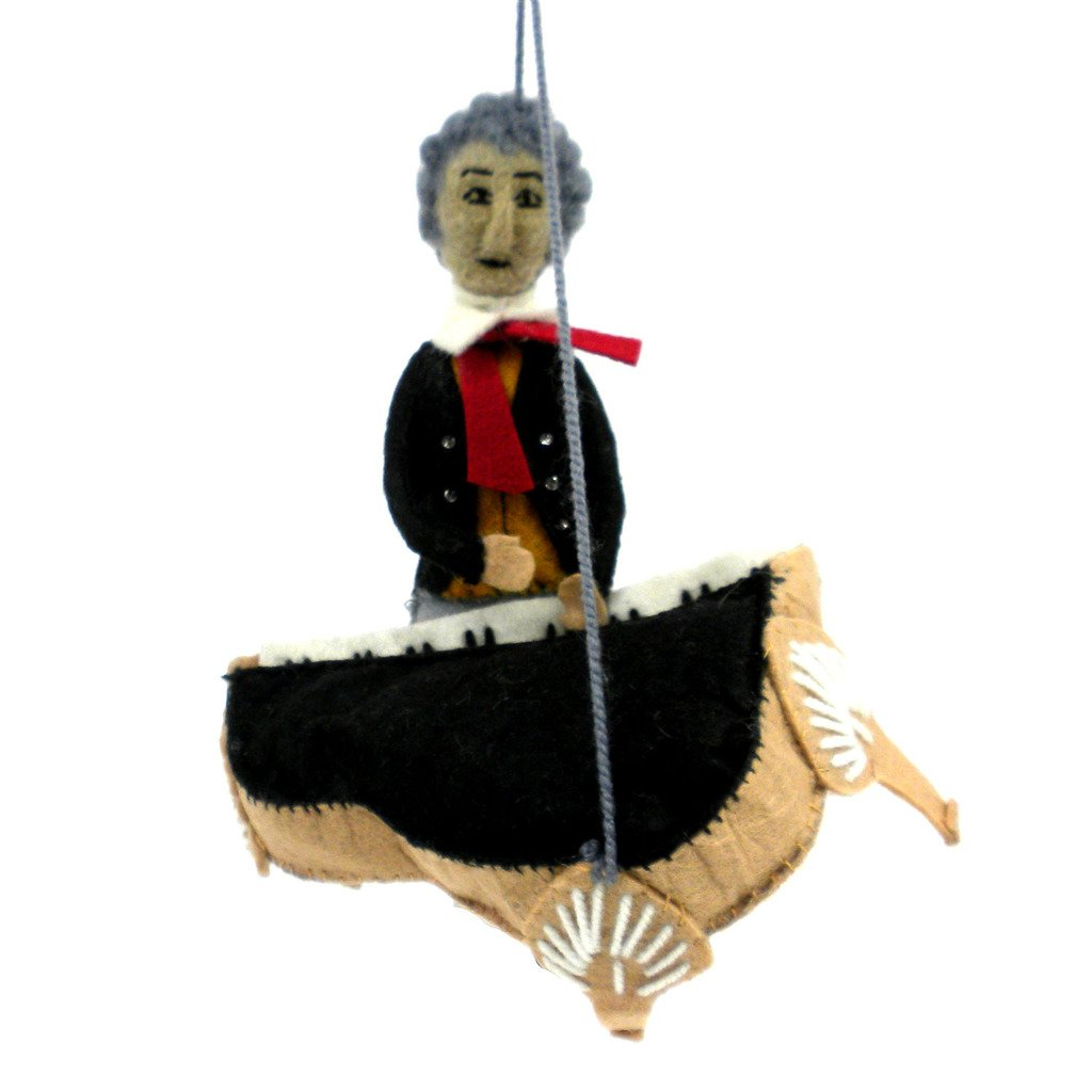 Beethoven Felt Ornament - Silk Road Bazaar (O)