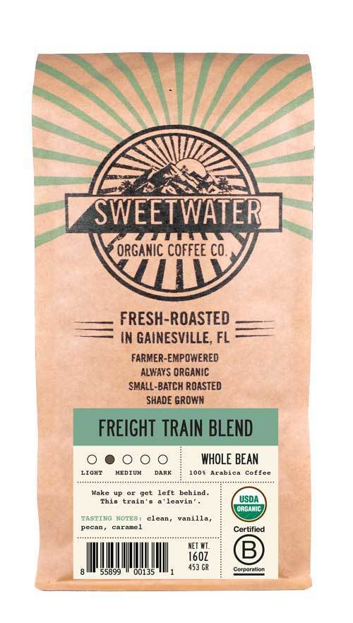 Freight Train Organic Coffee 12oz Beans - Sweetwater Coffee