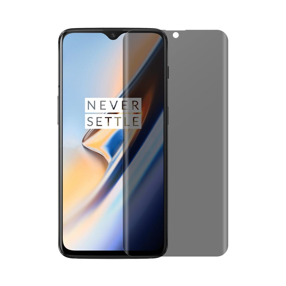 (OnePlus 6T) Shatterproof 3D Curve Screen Guard (Privacy Edition)
