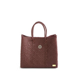 SMALL BURGUNDY TOTE BAG