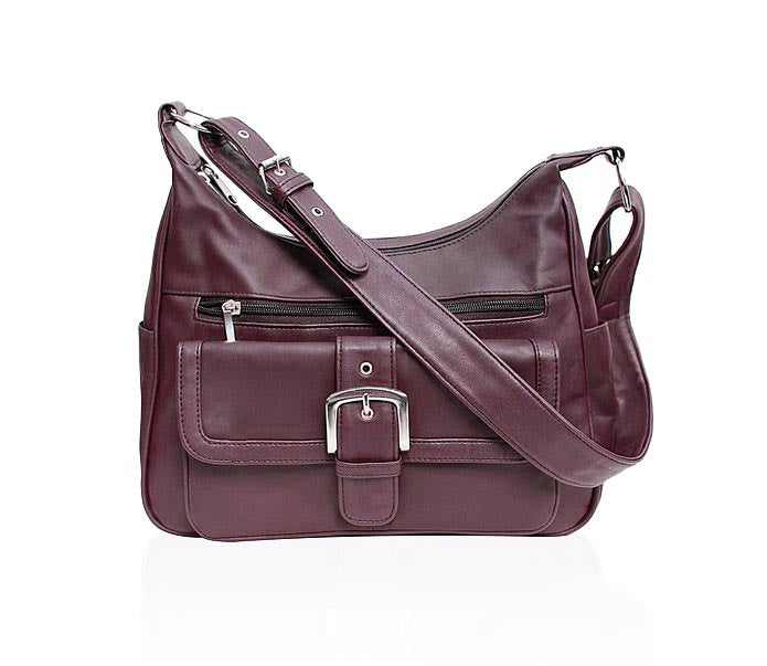 Timeless Leather Handbag-Dk Cranberry