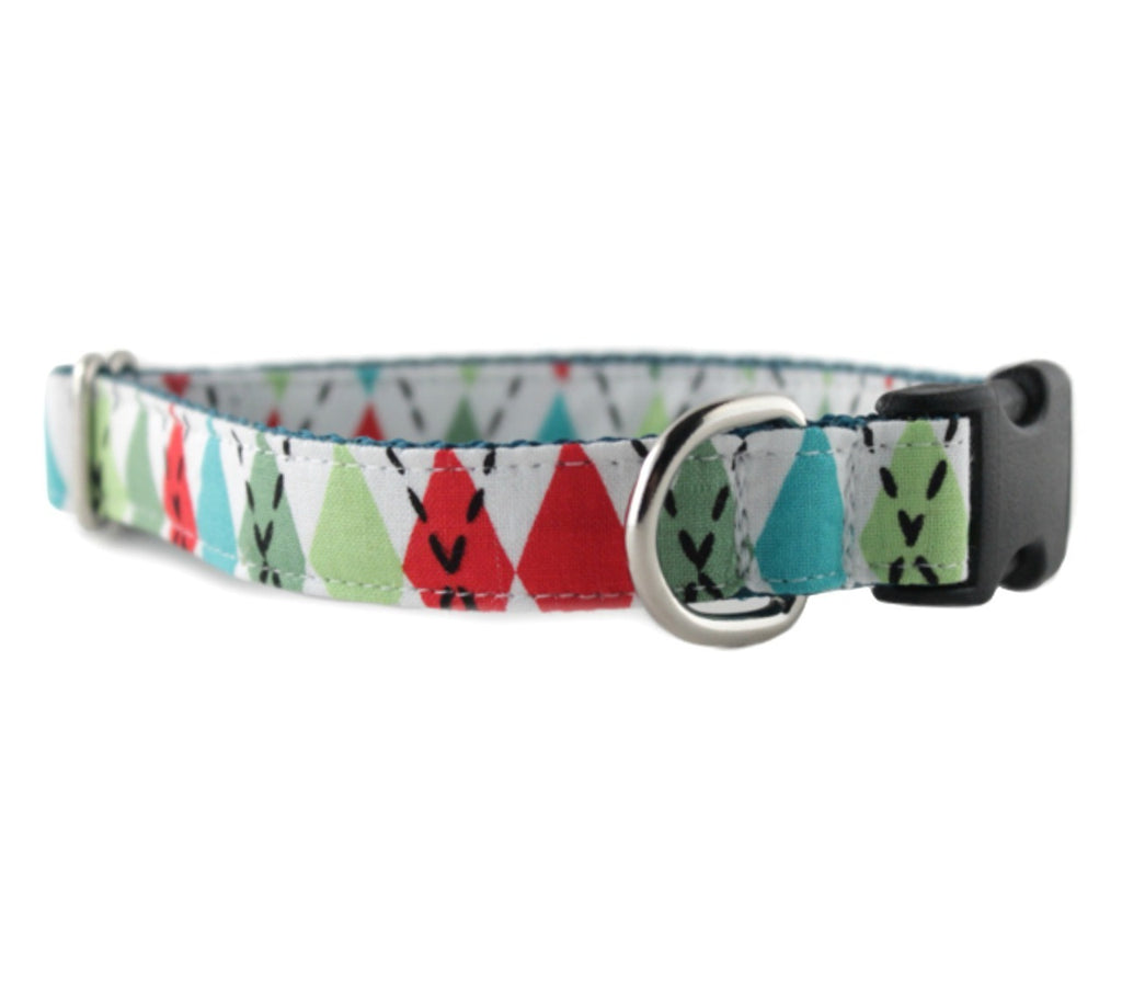 Argyle Bow Tie Dog Collar