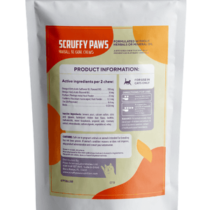 Scruffy Paws Hairball 'Be Gone' Support Chew