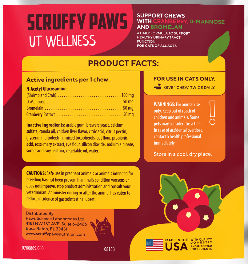 Scruffy Paws UT Wellness Chews (60 Chews)