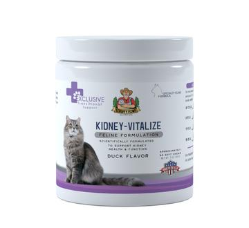 Scruffy Paws Kidney-Vitalize Chews Scruffy Paws Nutrition 6oz jar - 140 Chews approx (6 month supply) - (Usually $59.98, Make a 12% GREAT 12% SAV Duck (NEW FLAVOUR)